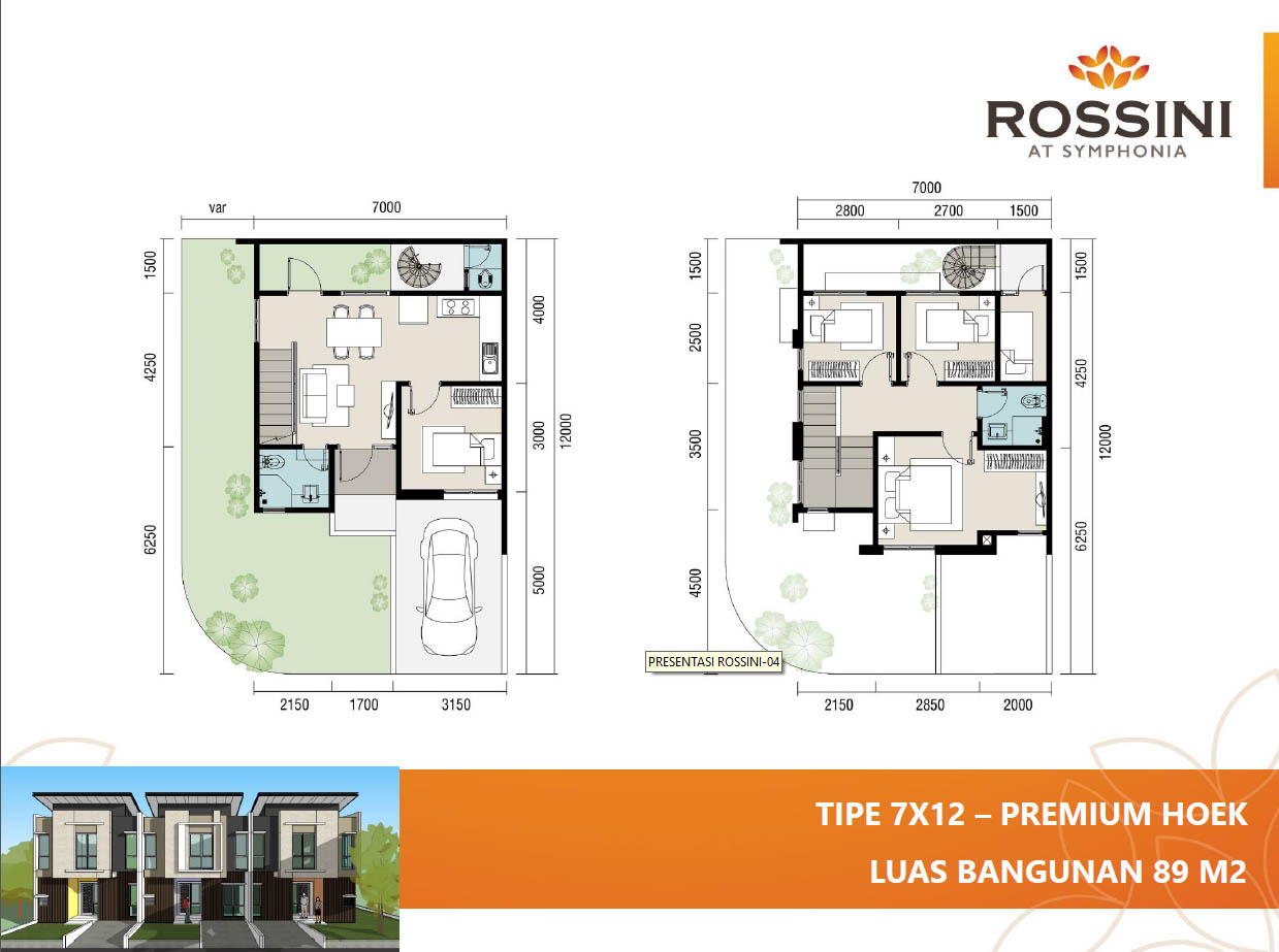 rossini summarecon 7x12 hoek