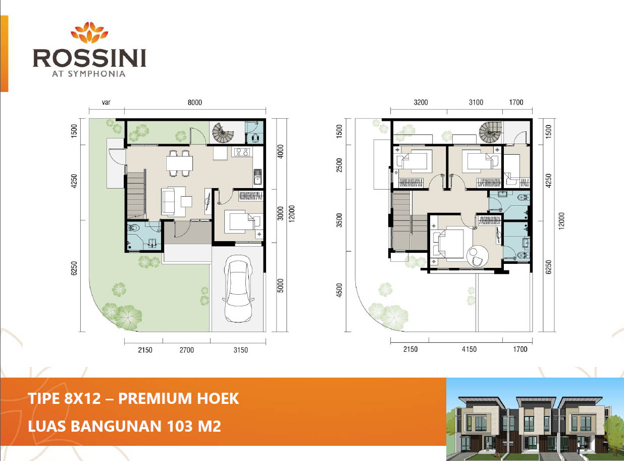 rossini summarecon 8x12 hoek