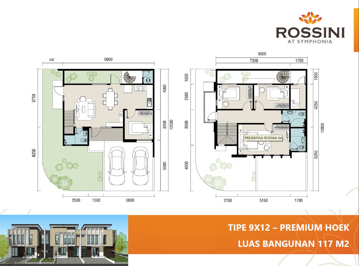 rossini summarecon 9x12 hoek