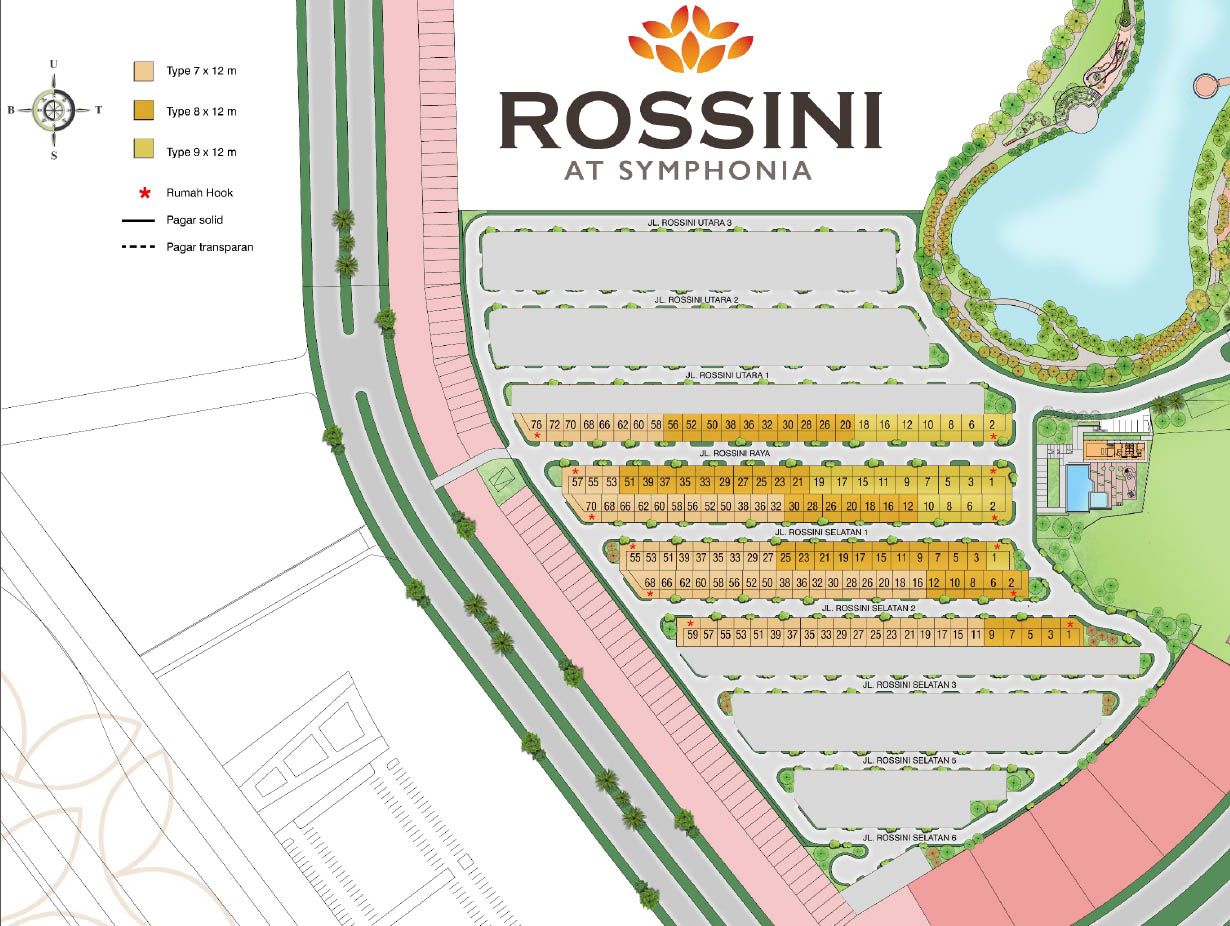 rossini summarecon siteplan