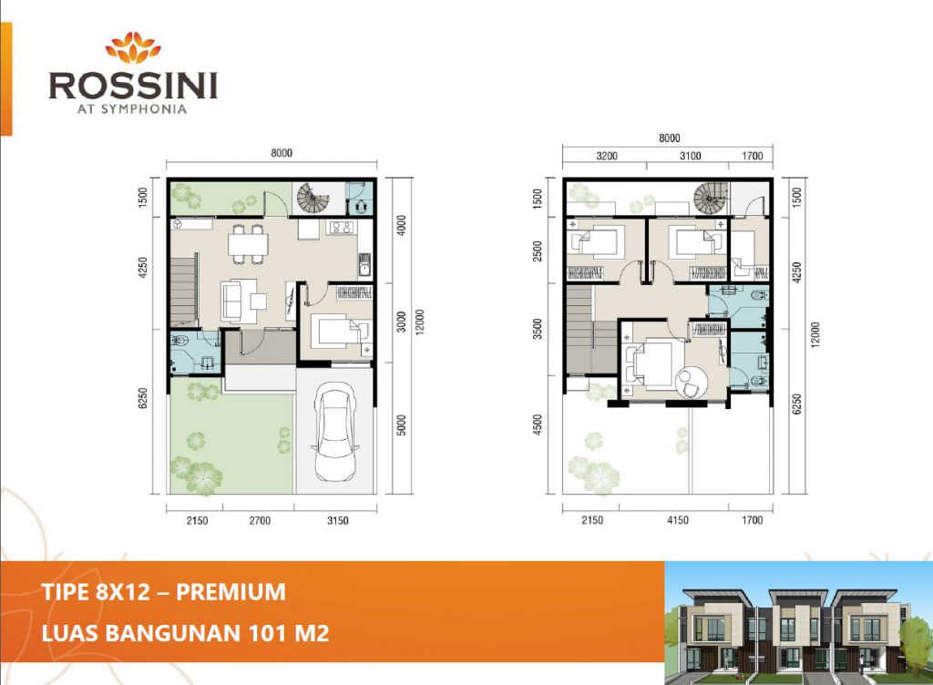 rossini summarecon 8x12 premium