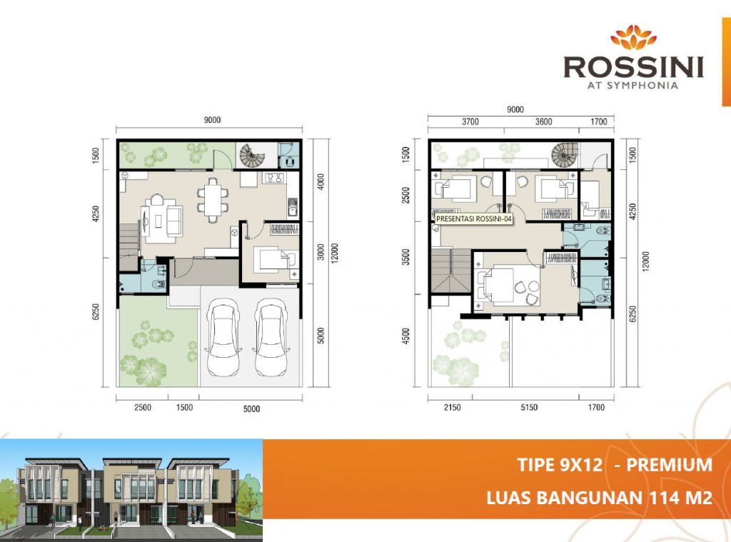 rossini summarecon 9x12 premium